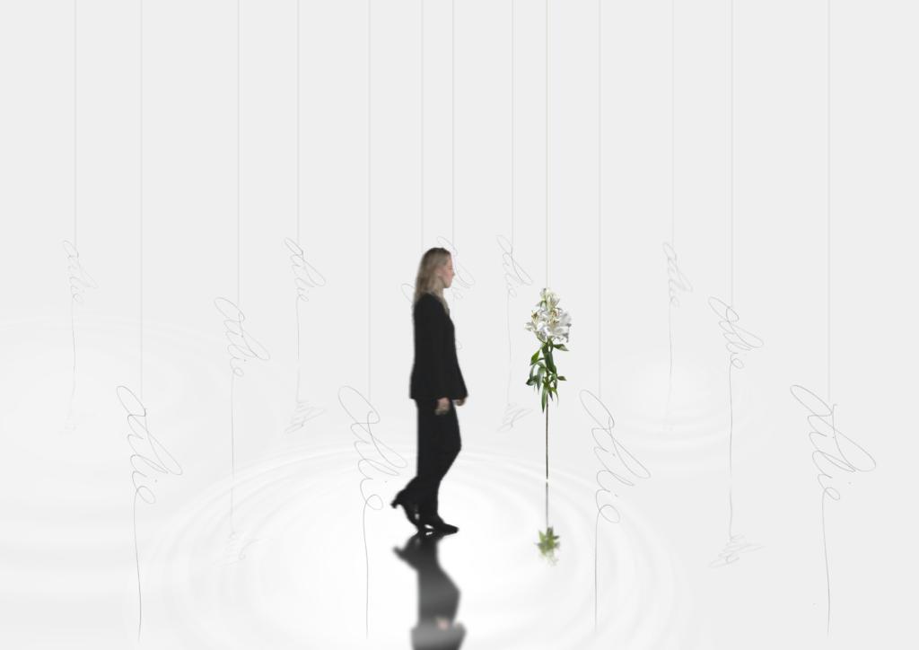 Zwischen Lilien — Skizze 1